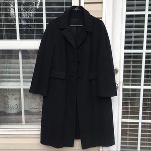 Black 100% cashmere winter coat
